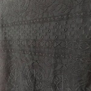 Sezane Black Lace Dress